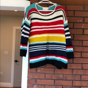 Chunky multicoloured sweater